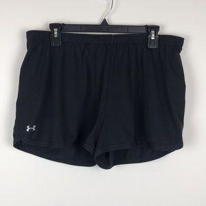 Under Armour Black Running Shorts - Size Large